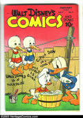 Golden Age (1938-1955):Cartoon Character, Walt Disney's Comics and Stories #77 (Dell, 1947) Condition: FN+.Donald Duck and friends. Carl Barks art. Has white pages a...