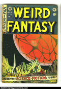 Golden Age (1938-1955):Science Fiction, Weird Fantasy #13 (EC, 1952) Condition: GD-. Anti-censorshipeditorial on the letters page. Al Feldstein cover. Wally Wood, ...