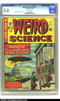 Golden Age (1938-1955):Horror, Weird Science 13 (#2) (EC, 1950) CGC VG/FN 5.0 Off-white to whitepages. Al Feldstein UFO cover. Feldstein, Jack Kamen and H...