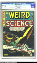 Golden Age (1938-1955):Science Fiction, Weird Science #5 (EC, 1951) CGC VF- 7.5 Cream to off-white pages.Al Feldstein atomic bomb cover. Feldstein, Wally Wood, Jac...