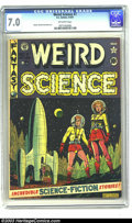Golden Age (1938-1955):Science Fiction, Weird Science #7 (EC, 1951) CGC FN/VF 7.0 Off-white pages. AlFeldstein cover, Jack Kamen, Wally Wood, and Harvey Kurtzman a...