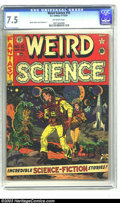 Golden Age (1938-1955):Science Fiction, Weird Science #10 (EC, 1951) CGC VF- 7.5 Off-white pages. WallyWood cover. Wood, Jack Kamen, and Joe Orlando art. Overstree...