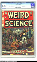 Golden Age (1938-1955):Science Fiction, Weird Science #13 (EC, 1952) CGC FN+ 6.5 Off-white pages. WallyWood cover. Wood, Al Feldstein, and Joe Orlando art. Flying ...