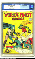 Golden Age (1938-1955):Superhero, World's Finest Comics #15 (DC, 1944) CGC GD/VG 3.0 Cream to off-white pages. Jerry Robinson, Joe Simon and Jack Kirby art. B...