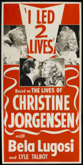 "Movie Posters:Cult Classic, I Led Two Lives (Glen or Glenda) (Screen Classics Inc., 1953). Three Sheet (41"" X 81""). Cult Classic...."