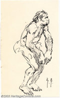 Original Comic Art:Sketches, Frank Frazetta - Original Sketch, Caveman (undated). Small but very expressive sketch of a caveman by the great Frank Frazet...