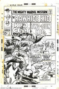 Original Comic Art:Covers, Larry Lieber - Original Cover Art for Mighty Marvel Western #2(Marvel, 1968). A great western reprint series gets an all-ne...