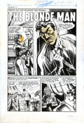"""Original Comic Art:Complete Story, Howard Nostrand - Original Art for Black Cat Mystery #46, Complete5-page Story """"The Blonde Man"""" (Harvey, 1953). The fortune..."""