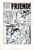 """Original Comic Art:Complete Story, Bob Powell - Original Art for Chamber of Chills #18, Complete 5-page Story """"Friend"""" (Harvey, 1953). Albert is having trouble..."""
