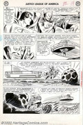 Original Comic Art:Panel Pages, Mike Sekowsky and Bernard Sachs - Original Art for Justice Leagueof America #33, page 17 (DC, 1963). Superman and Aquaman f...