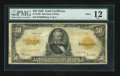 Large Size:Gold Certificates, Fr. 1200 $50 1922 Mule Gold Certificate PMG Fine 12....