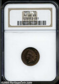 Proof Indian Cents: , 1872 PR 66 Red and Brown NGC. ...