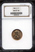 Lincoln Cents: , 1941-D MS67 Red NGC. ...