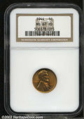 Lincoln Cents: , 1944 MS67 Red NGC. ...