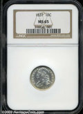Bust Dimes: , 1831 MS65 NGC. ...