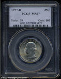Washington Quarters: , 1977-D MS67 PCGS. ...