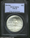 Modern Issues: , 1996-D Olympic/Rowing Silver Dollar MS70 PCGS. ...