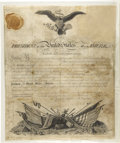Autographs:U.S. Presidents, Thomas Jefferson Commission Signed...