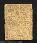 Colonial Notes:Continental Congress Issues, February 17, 1776, $1/3, Plate B, Continental Congress Issue, ...