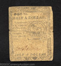 Colonial Notes:Continental Congress Issues, February 17, 1776, $1/2, Plate C, Continental Congress Issue, ...