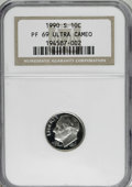 Proof Roosevelt Dimes: , 1990-S 10C PR69 Deep Cameo NGC. . NGC Census: (305/99). PCGSPopulation (2512/91). Numismedia Wsl. Price for NGC/PCGS coin...