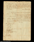 Stocks and Bonds:Certificates with Significant Autographs, Robert Morris and John Nicholson Petition to be Released ...
