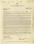 Movie/TV Memorabilia:Autographs and Signed Items, Orson Welles Signed Contract. A single-page, double-sided William Morris Agency representation contract dated September 4, 1...