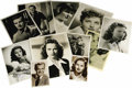 """Movie/TV Memorabilia:Autographs and Signed Items, Stars of the '40s and '50s Signed Photos. Set of 11 b&w headshots includes 3.5"""" x 5.5"""" photos signed by Dennis O'Keefe and C..."""