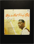 """Music Memorabilia:Autographs and Signed Items, Nat """"King"""" Cole Signed Album Cover. A cover for the 1957 LP Thisis Nat """"King"""" Cole, inscribed and signed by him in blac..."""