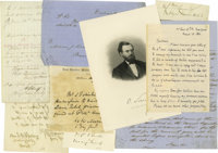 Civil War: Union Generals and Officers Autograph Group A good collection of fifteen pieces including Philip Henry Sherid...