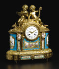 Timepieces:Clocks, A Fine French Sevres-style Porcelain and Gilt Bronze Mantle Clock.Unknown maker, French. Circa 1870-1890. Porcelain with ...