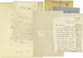 Autographs:Military Figures, Union Generals A good collection of 16 pieces consisting of letters, documents and clipped signatures of Civil War Union gen... (Total: 16 )