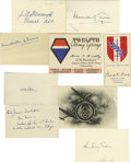 Autographs:Military Figures, (World War II) A fine collection of 12 signatures, mostly on 3 x 5 inch cards consisting of leaders and personalities from t... (Total: 12 )