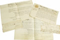 Autographs:Statesmen, Grouping of Eight Documents Pertaining to Early New York Governors.A diverse selection as follows:. George Clinton DS, ... (Total: 8 )