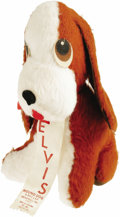 "Music Memorabilia:Toys, Elvis Presley Hound Dog Souvenir (1977). Sold exclusively on Elvis' last tour in 1977, this ""Official Elvis Hound Dog"", prod..."