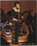 Music Memorabilia:Memorabilia, Elvis Presley Madison Square Garden Tour Book. A vintage copy ofthe Tour Photo Album featuring 12 b&w and four color photos...