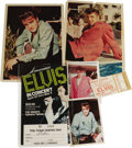 Music Memorabilia:Memorabilia, Elvis Presley Concert Ticket Stubs and Moss Photos. Included is astub for Elvis' May 6, 1975, performance at the Murphy Cen...