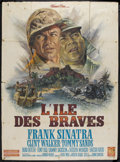 """Movie Posters:War, None But the Brave (Warner Brothers, 1965). French Grande (47"""" X63""""). War. Starring Frank Sinatra, Clint Walker, Tommy Sand..."""