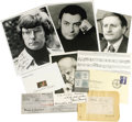 Movie/TV Memorabilia:Autographs and Signed Items, Classical Actors, Writers, and Composers Autograph Set. Includes a personal check dated March 31, 1942, and signed by George...
