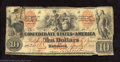 """Confederate Notes:1861 Issues, 1861 $10 Group of Indians; Thetis on left. Maiden with """"X"""" on ..."""