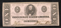 Confederate Notes:1863 Issues, 1863 $1 Clement C. Clay, T-62, Choice About Uncirculated. This ...