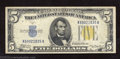 Small Size:World War II Emergency Notes, 1934-A $5 North Africa Silver Certificate, Fr-2307, Crisp ...