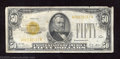 Small Size:Gold Certificates, 1928 $50 Gold Certificate, Fr-2404, Fine-Very Fine. $50 Gold ...