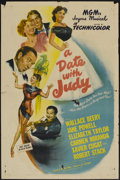 "Movie Posters:Comedy, A Date with Judy (MGM, 1948). One Sheet (27"" X 41""). Comedy...."