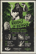 """Movie Posters:Horror, Brides of Blood (Hemisphere Pictures, 1968). One Sheet (27"""" X 41"""").Horror...."""