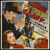 """Here's Flash Casey (Grand National, 1938). Six Sheet (81"""" X 81""""). Action"""