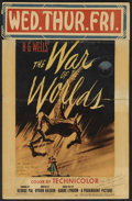 """Movie Posters:Science Fiction, The War of the Worlds (Paramount, 1953). Autographed Window Card(14"""" X 21.5""""). Science Fiction...."""