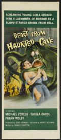 "Movie Posters:Science Fiction, Beast from Haunted Cave (The Film Group, 1959). Insert (14"" X 36"").Science Fiction...."