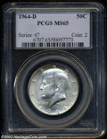 Kennedy Half Dollars: , 1964-D MS65 PCGS. ...