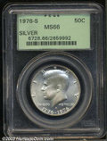 Kennedy Half Dollars: , 1976-S Silver MS66 PCGS. ...